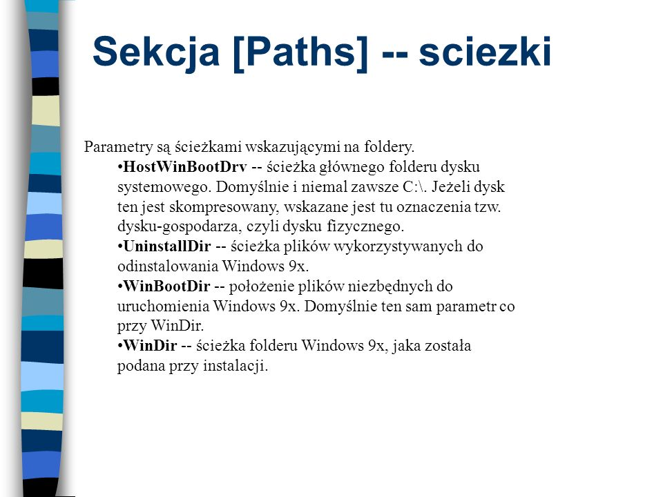Sekcja [Paths] -- sciezki